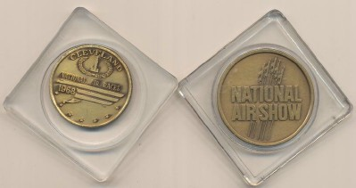 1968 & 1979 Cleveland National Air Races Bronze Tokens